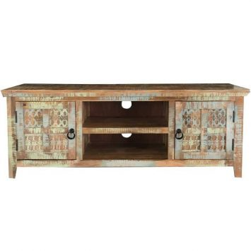 Aravali 2 Door Plasma TV Unit | Mango Wood