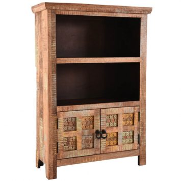 Aravali 2 Door Small Bookcase | Mango Wood