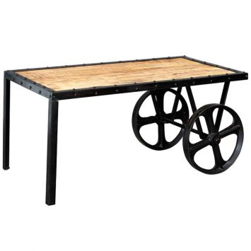 Cosmo Industrial Cart Coffee Table