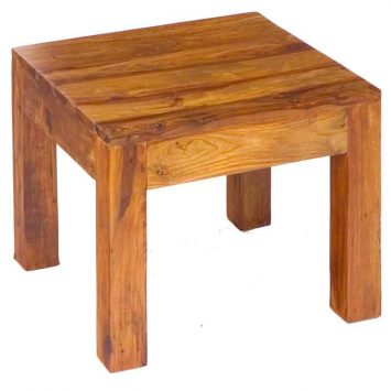 Cube Lamp Table 45x45 Solid Sheesham Wood