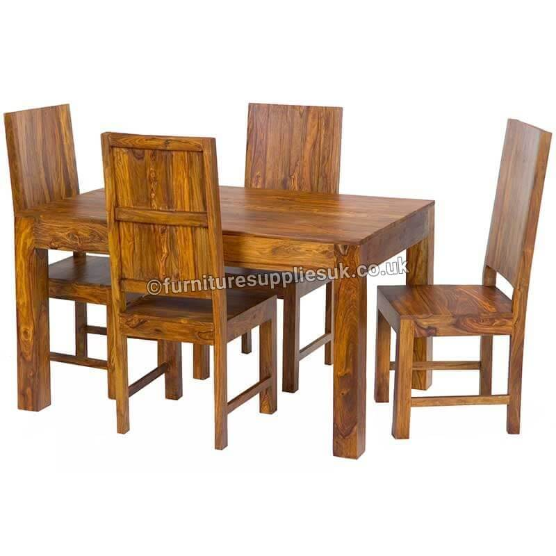 Cube Dining Table 4 Chairs