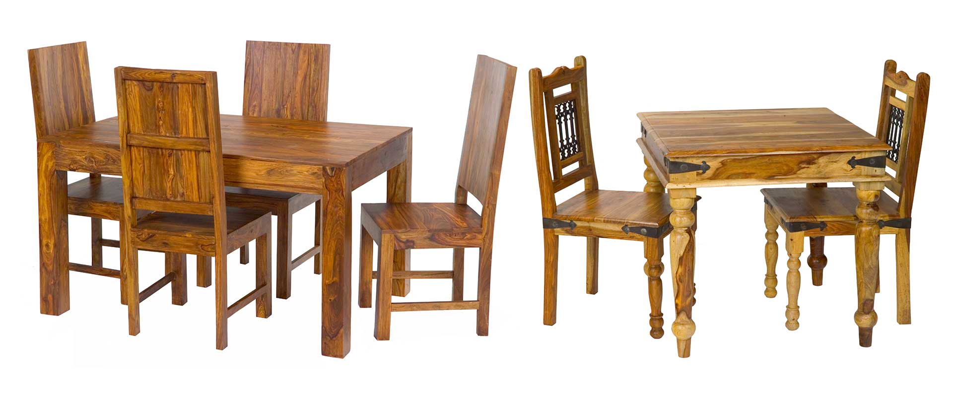 Solid Wood Dining Sets. Tables & Chairs.